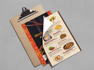 печать меню для ресторанов кафе рязань
